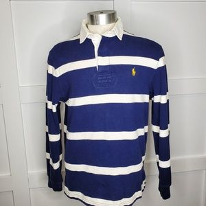 Ralph Lauren Polo Rugby Blue  Striped Shirt Large